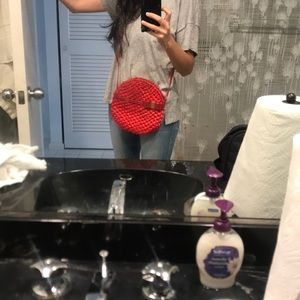 The perfect summer cross body weave bag